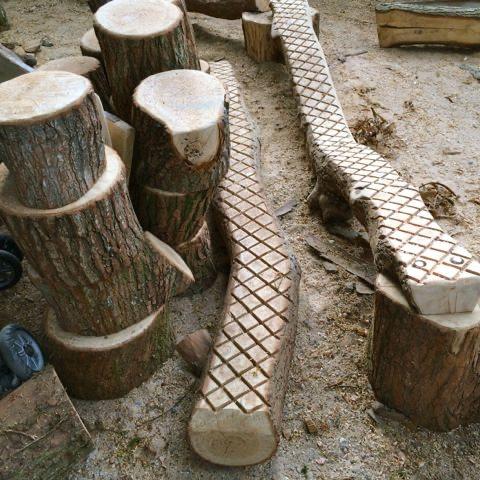 Wooden Platform Blocks